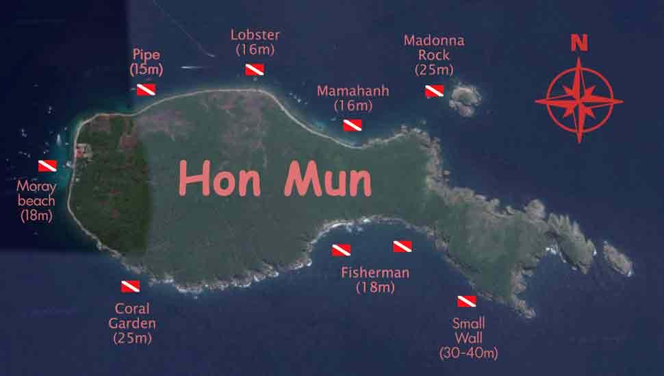 Дайв сайты острова Хон Мун